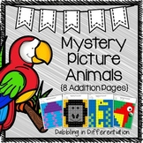 Addition Mystery Picture Animals- Doubles, Doubles +1, Making Sums to 10