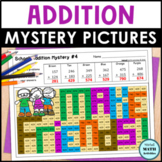 Addition Mystery Pictures Back to School Math Printables