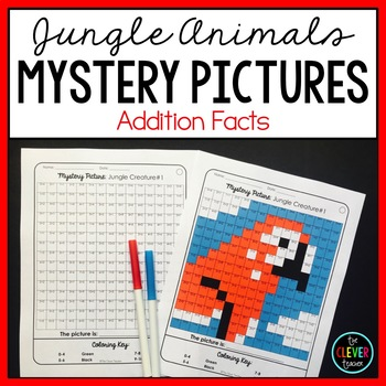 Mystery Pictures Jungle - Addition Facts