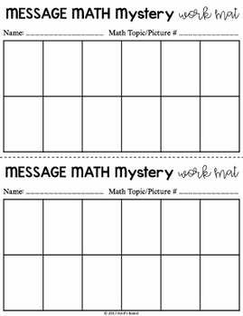 Addition Mystery Pictures - Message Math