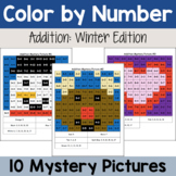 Addition Mystery Pictures: Winter Packet