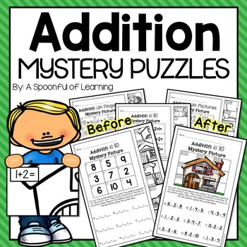 Addition Mystery Puzzles
