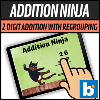 Addition Ninja 2 Digit addition with Regrouping - Boom Learning Cards