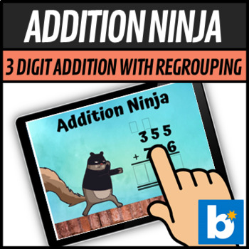 Addition Ninja 3 Digit addition with Regrouping - Boom Learning Cards