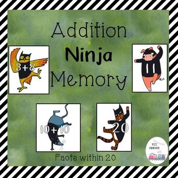 Addition Ninja Memory Facts Within 20