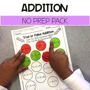 Addition No Prep Pack