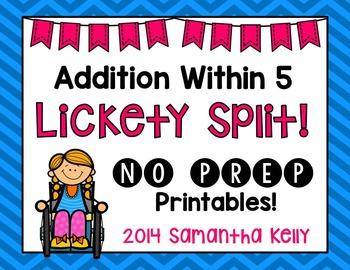 Addition No Prep Printables