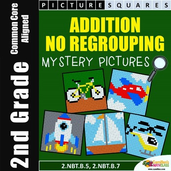 Addition Without Regrouping, Coloring Worksheets