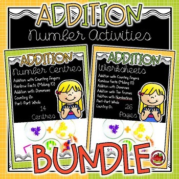 Addition Number Activities BUNDLE