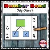Addition Number Bond Clip Cards