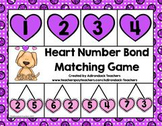 Addition Number Bond Heart Matching Game 1-10