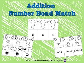 Addition Number Bond Matching Games