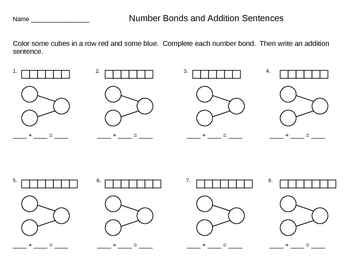 Addition Number Bond Templates and Ideas - Singapore Math