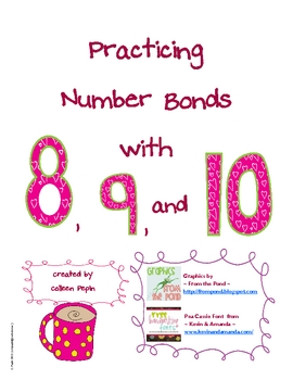 Addition Number Bond Worksheets - Singapore Math by Colleen P ...