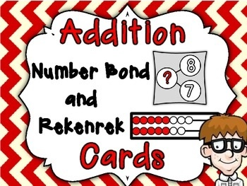 Addition Number Bond and Rekenrek Basic Fact Cards