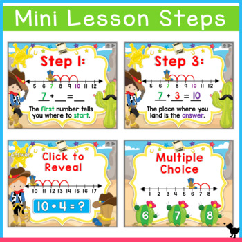 Number Line Addition 1-20 PowerPoint