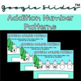 Addition Number Patterns Google Slides™️ Activity- Snowman