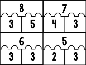 Addition Number Puzzles 1.OA.3 1.OA.8