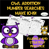 Addition Number Searches!!  Sums of 10-19! (2 & 3 addends!)