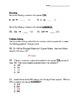Third Grade Addition Number Sense PRE-TEST