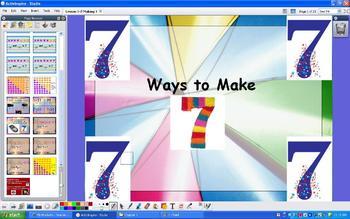 Grade 1 Addition Number Sense Ways to Make Sums of 7 - ActivInspire Flipchart