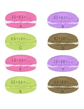 Addition Number Sentence Macaroon Center