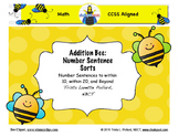 Addition Number Sentence Sorts: Within 20 and Beyond (CCSS Aligned)