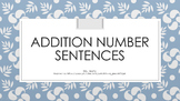 Addition Number Sentences FREEBIE