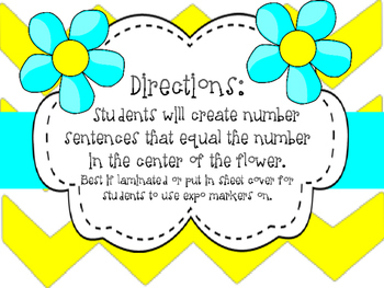 Number Sentence Practice