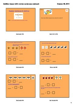 Addition Number Sentences; Halloween Themed