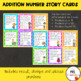 Addition Number Story Cards {Result, Start and Change Unknown}