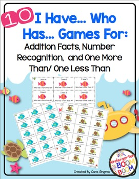 """Addition, Numbers, and More Than/Less Than """"I Have..Who Has Games"""""""