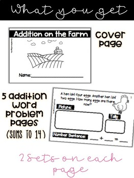 Addition On The Farm Word Problems