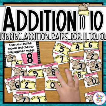 Addition - math center activity for addition practice within 10