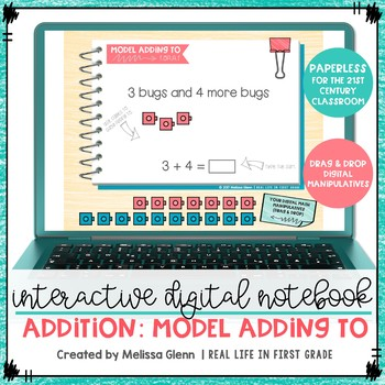 Addition Paperless Digital Interactive Notebook for Google Drive