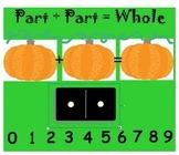 Addition- Part Plus Part Pumpkins SMARTboard