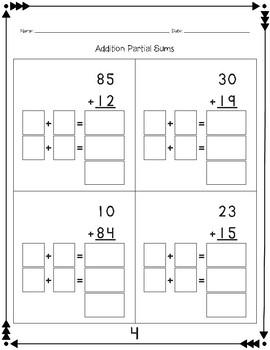 Addition: Partial Sums (No Composing)