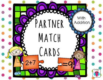 Addition Partner Match Cards