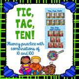 Addition Partners of 10 and 100 Game Tic Tac Ten!