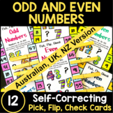 Odd and Even Numbers Pick, Flip and Check Cards [Australian UK NZ Edition]