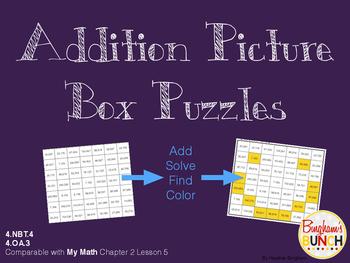 Addition Picture Box Puzzle