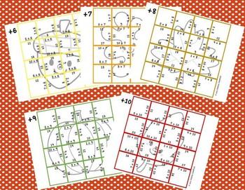 Addition Picture Puzzles {Autumn}