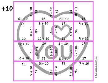 Addition Picture Puzzles {Conversation Hearts}