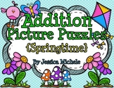 Addition Picture Puzzles {Springtime}