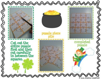 Addition Picture Puzzles {St. Patrick's Day}