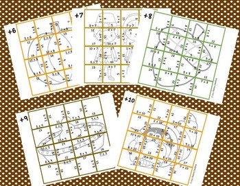 Addition Picture Puzzles {Thanksgiving}