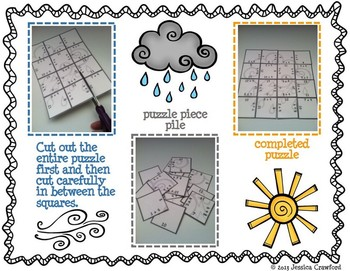 Addition Picture Puzzles {Weather}