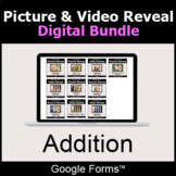 Addition - Picture & Video Reveal Game  | Digital Bundle |