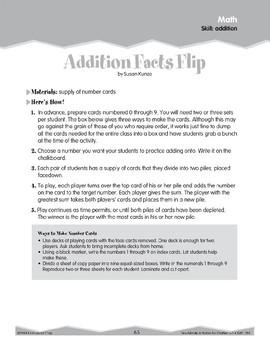 Addition: Playing Card Games (Ten-Minute Activities)