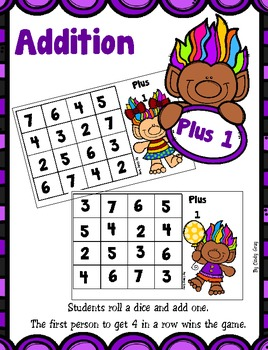 Addition Plus 1 - Trolls